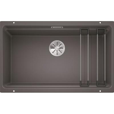 Каменная кухонная мойка Blanco ETAGON 700-U Темная скала под столешницу (525168)