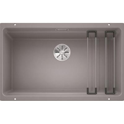 Каменная кухонная мойка Blanco ETAGON 700-U Алюметаллик под столешницу (525169)