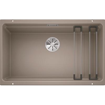 Каменная кухонная мойка Blanco ETAGON 700-U Серый беж под столешницу (525174)
